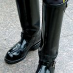 The shiniest motorcop boots