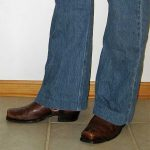 Frye Harness Boots and Bellbottom Jeans