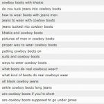 Wearing Cowboy Boots