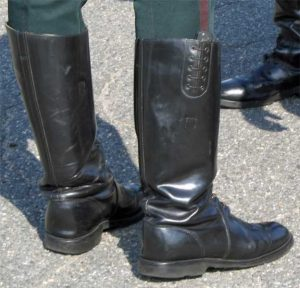 Chippewa Trooper Boots -- typical ankle sagging