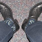 Boots at Work–Ostrich Style