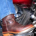 Cowboy Boots on a Harley