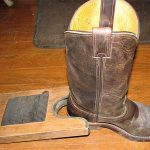 Removing Boots with a Boot Jack