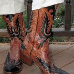 Outlays on Cowboy Boots Tear Hem