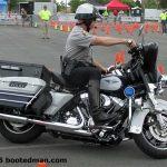 Wet Cops Ride in Rain