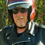Traditional Leather Motorcycle Jacket V-Neck