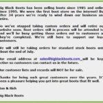Legendary Big Black Boots Retiring